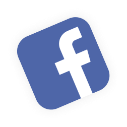 facebook icon floating above sales funnel