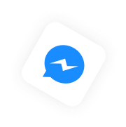 messenger icon floating above sales funnel