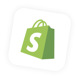 shopify icon floating above sales funnel